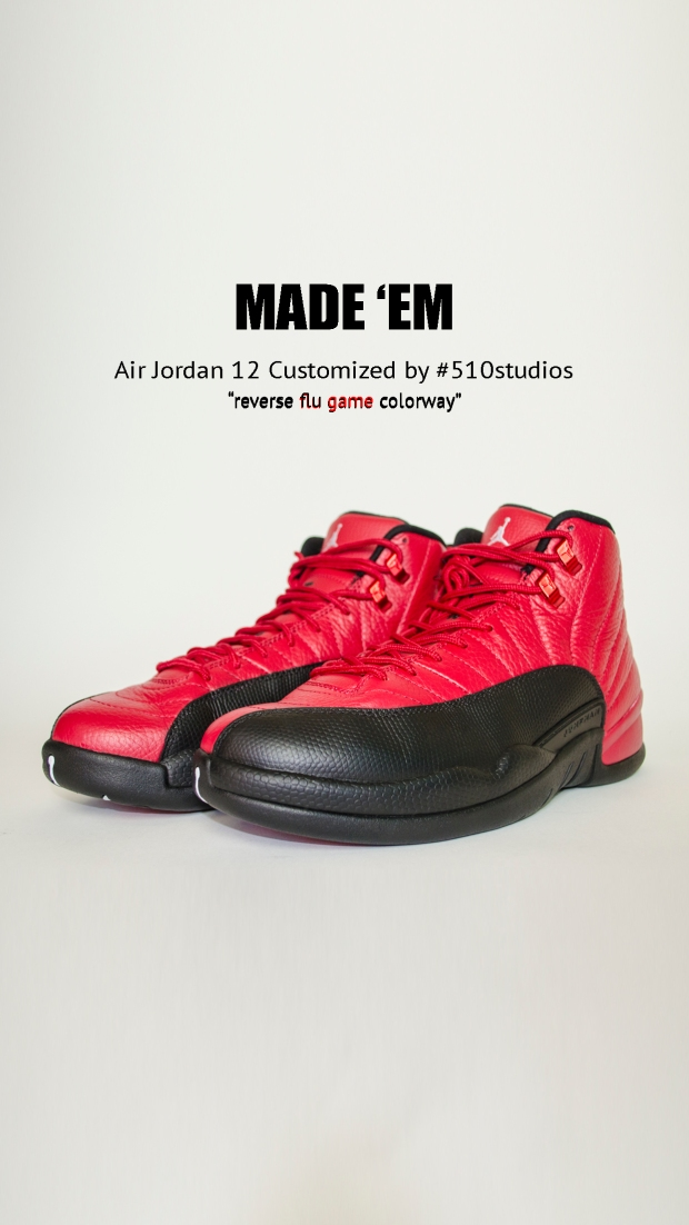 CUSTOM 12s Actual Item Reverse Flu Games 0008